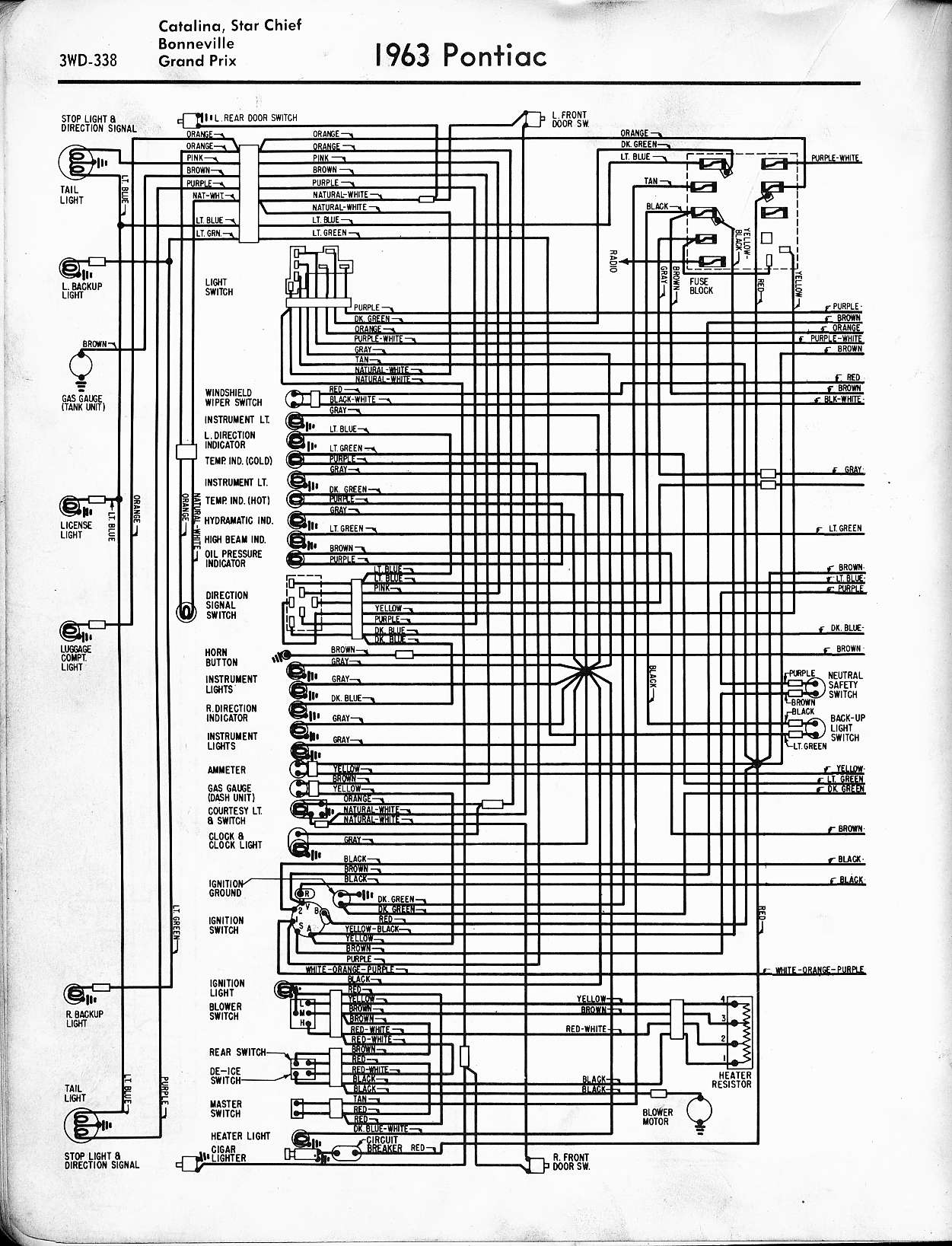 pontiac wiring 1957 1965 rh oldcarmanualproject com 2004 Pontiac Grand Prix  Wiring-Diagram wiring diagram for 2003 pontiac bonneville