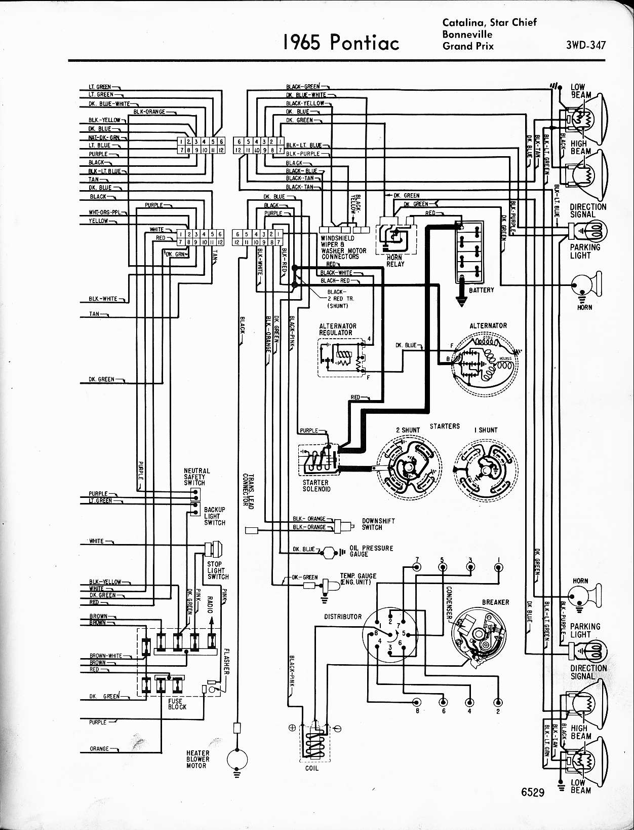 Wiring Diagram For Pontiac Bonneville Opinions About John Deere 270 Alternator 1957 1965 Rh Oldcarmanualproject Com Radio 2003